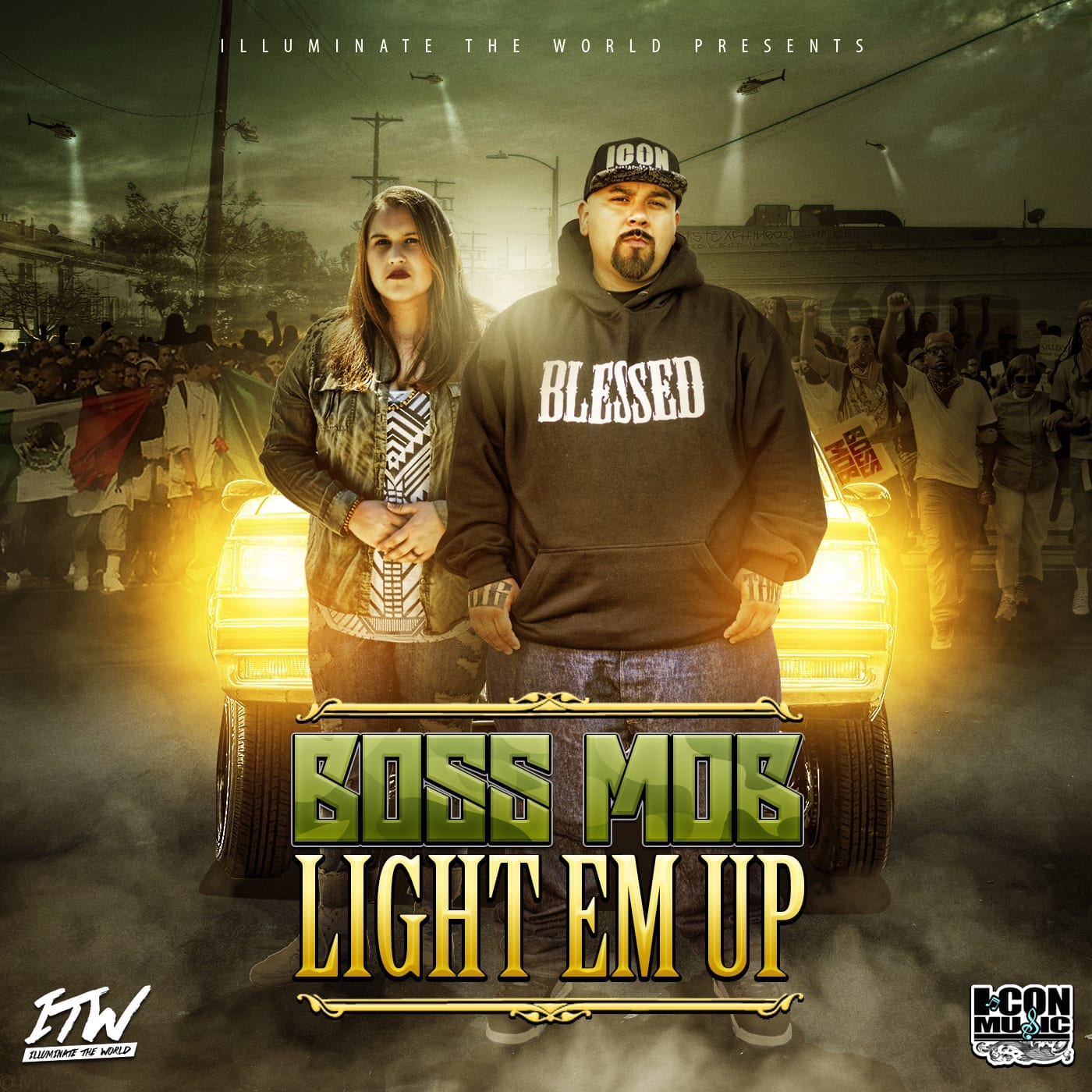 "BOSS MOB drop's free ALBUM ""LIGHT EM UP"""