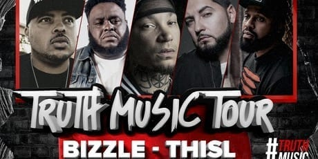 Bizzle, Thi'sl, Sevin, Datin, and Eshon Burgundy Truth Music Tour